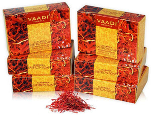 Luxurious Organic Saffron Soap - Skin Whitening Therapy - Evens Skin Tone (6 x 75 gms / 2.7 oz)
