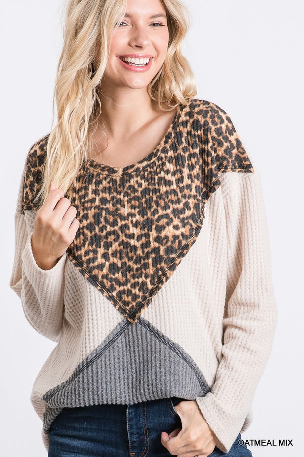 Leopard Triangle Top