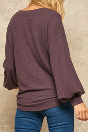 Happy in Plum Top