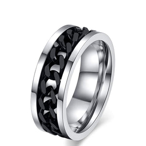 Cowboy Chain Stainless Steel Rings