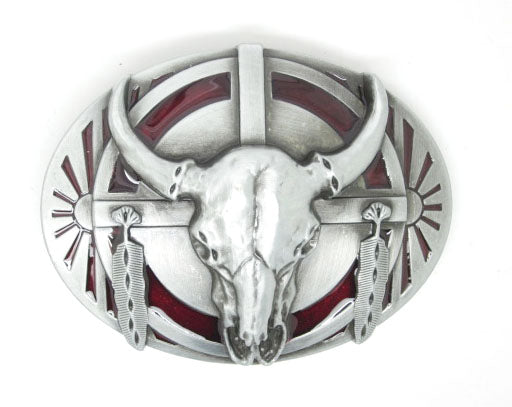 Western Style Native American Belt Buckle front