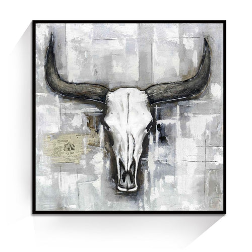 Cow Skull Animal Wall Art Oil Painting Canvas