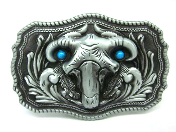 Native American Western Belt Buckle front