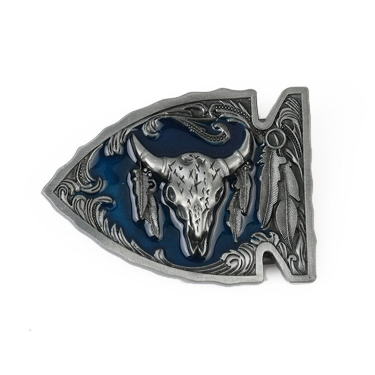 Native American Arrowhead Belt Buckle