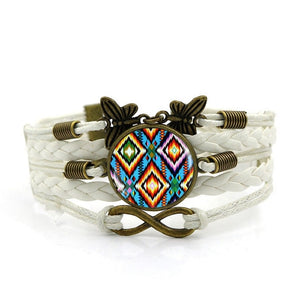 Handmade Knitted Leather Native American Vintage Jewelry