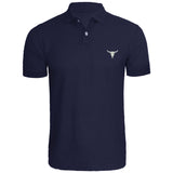 Mens Bull Skull Embroidered Polo Shirts Men Shirts