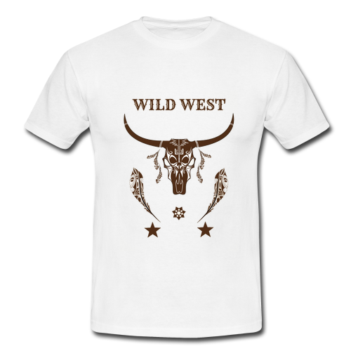 Wild West Mens Retro Vintage T-shirt