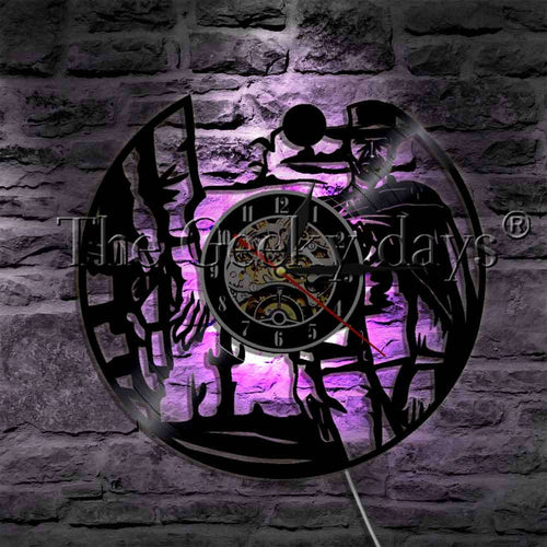 Wild West Sunset Cowboy LED Lighting Wall Clock