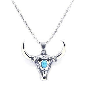 Bull Head Pendant Stainless Steel Fashion Necklace