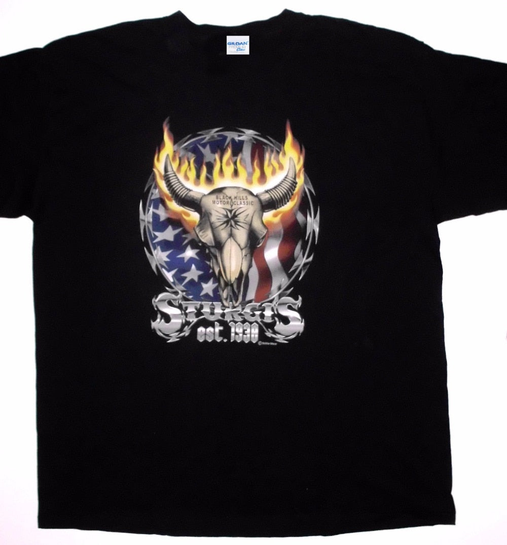 Cow Skull Flames 3D Printed Tee Shirt