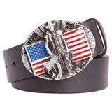 Genuine Leather Wild West American Cowboy Belt