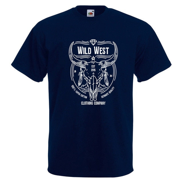 Men's Wild West  Desert Horns Tshirt