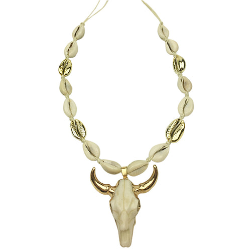 Bull Head Pendant Necklace