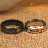 Cowboy Carbon Steel Couples Rings