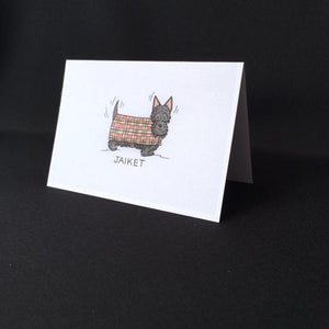 "Scottie Dog Card - ""Jaiket"""