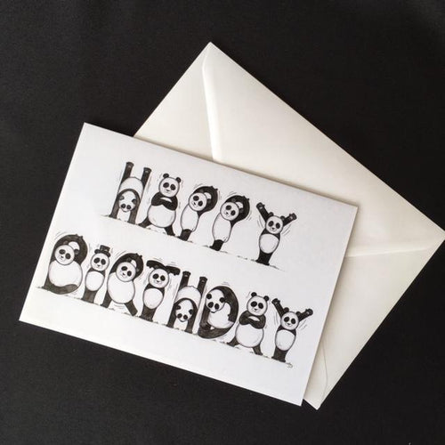 Panda Happy Birthday Card