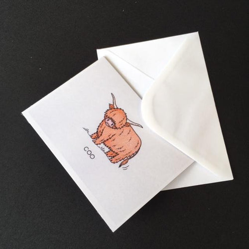 Highland Cow Card -