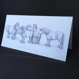 "Shetland Pony Card - ""All the best things come in small packages"""