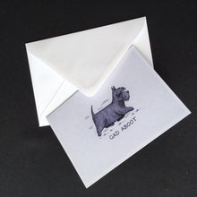 "Load image into Gallery viewer, Scottie Dog Card - ""Gad Aboot"""