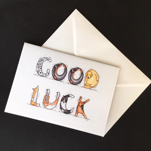 Dog Good Luck Card