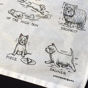 Westie Dog Tea Towel
