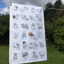 Load image into Gallery viewer, Westie Dog Tea Towel