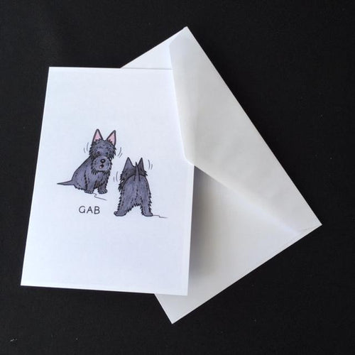 Scottie Dog Card -
