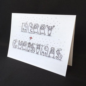 Westie Dog Merry Christmas Card