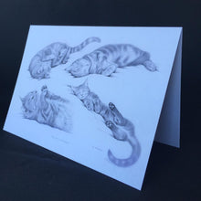 "Load image into Gallery viewer, Cat Card - ""The Cat's Whiskers"""