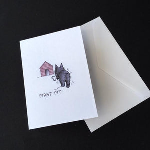 "Scottie Dog Card - ""First Fit"""