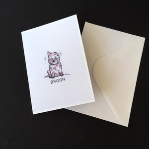 "Westie Dog Card - ""Broon"""