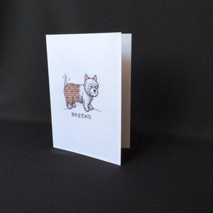 "Westie Dog Card - ""Breeks"""