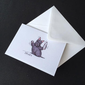 "Scottie Dog Card - ""Dram"""