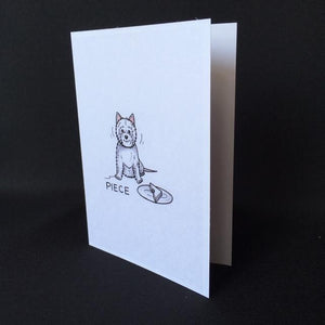 "Westie Dog Card - ""Piece"""