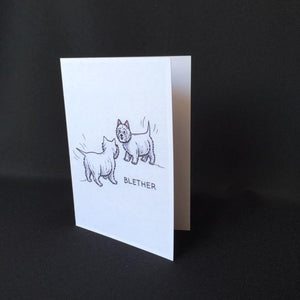 "Westie Dog Card - ""Blether"""