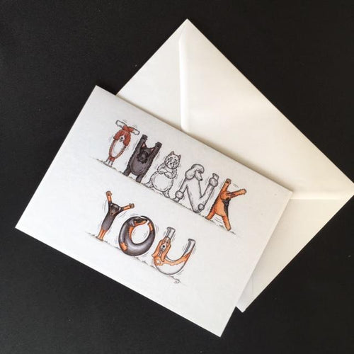 Dog Thank You Card
