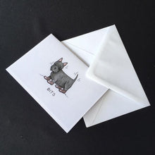 "Load image into Gallery viewer, Scottie Dog Card - ""Bits"""