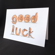Load image into Gallery viewer, Squirrel Good Luck Card