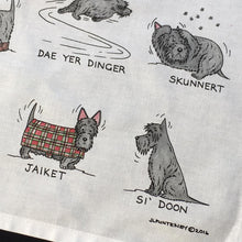 Load image into Gallery viewer, Scottie Dog Tea Towel