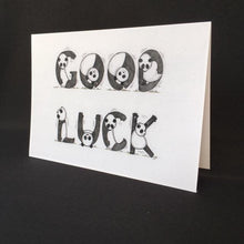 Load image into Gallery viewer, Panda Good Luck Card