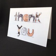 Load image into Gallery viewer, Cat Thank You Card