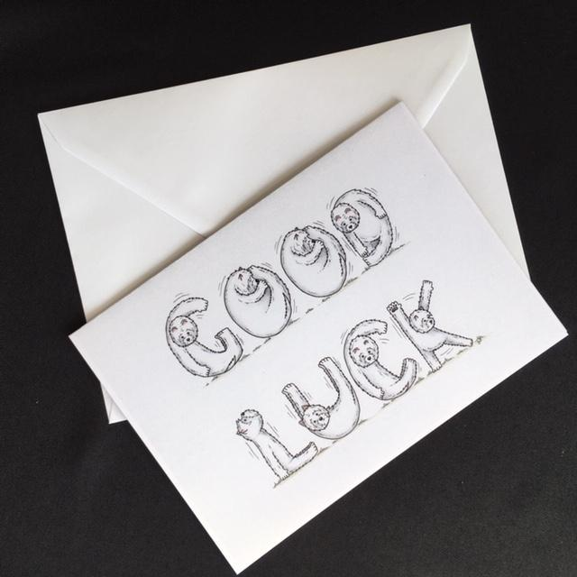 Westie Dog Good Luck Card