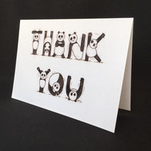 Load image into Gallery viewer, Panda Thank You Card