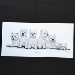 "Westie Dog Print - ""White Out"""