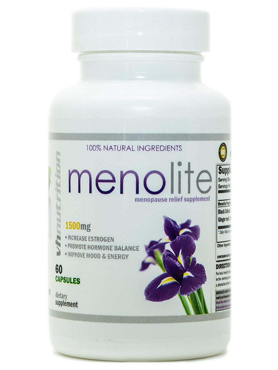 MenoLite Womens Menopause Supplement | Female Hormone Balance Relief