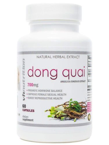 Dong Quai | 700 mg Extract Capsules | 4:1 Angelica Sinensis Root Powder | 60 Day Supply …