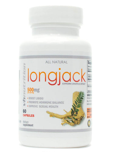 Longjack | 500mg Tongkat Ali Supplement | 100:1 Eurycoma longifolia Extract | 30 Day Supply