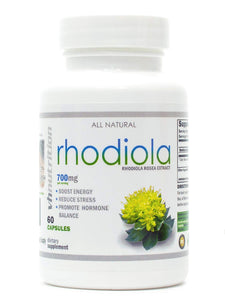 Rhodiola Rosea Supplement | 700 mg Rhodiola Root Pills | 60 Day Supply