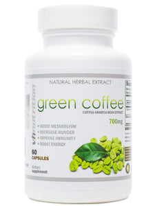 Green Coffee | 1400 mg Extract | 50% Chlorogenic Acid | 30 Day Supply for Weight Loss