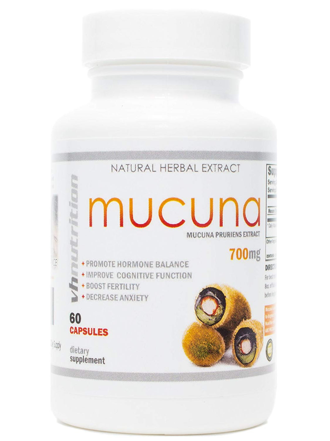 Mucuna | 700mg Mucuna Pruriens Capsules | 20% L- Dopa Extract | 30 Day Supply